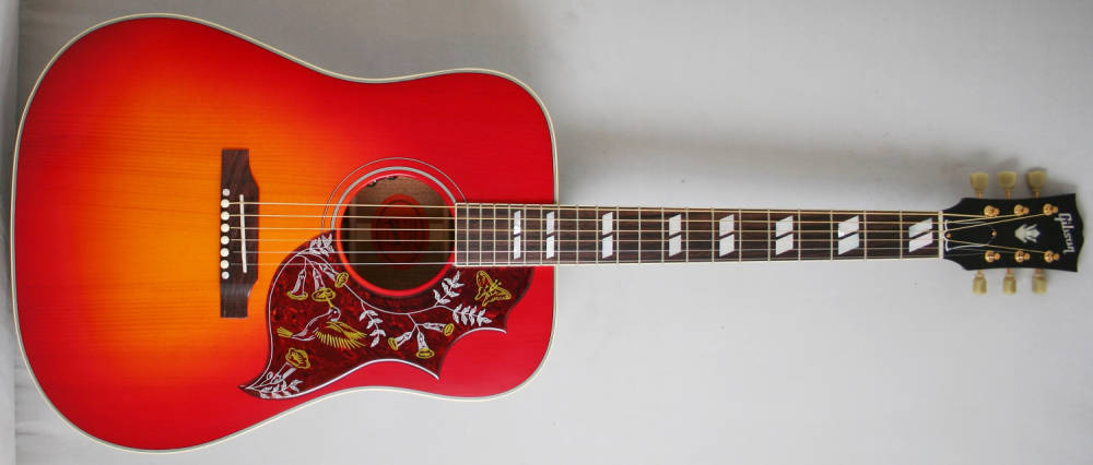 gibson hummingbird ltd edition red spruce long mcquade musical instruments. Black Bedroom Furniture Sets. Home Design Ideas