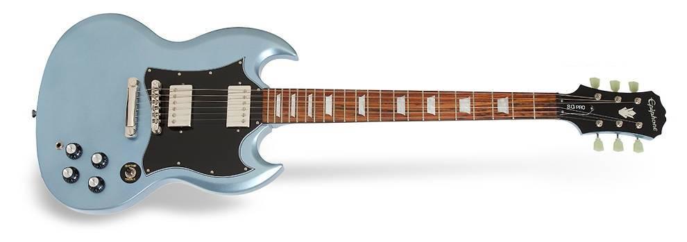 epiphone ltd edition 1966 g 400 pro sg pelham blue long mcquade musical instruments. Black Bedroom Furniture Sets. Home Design Ideas
