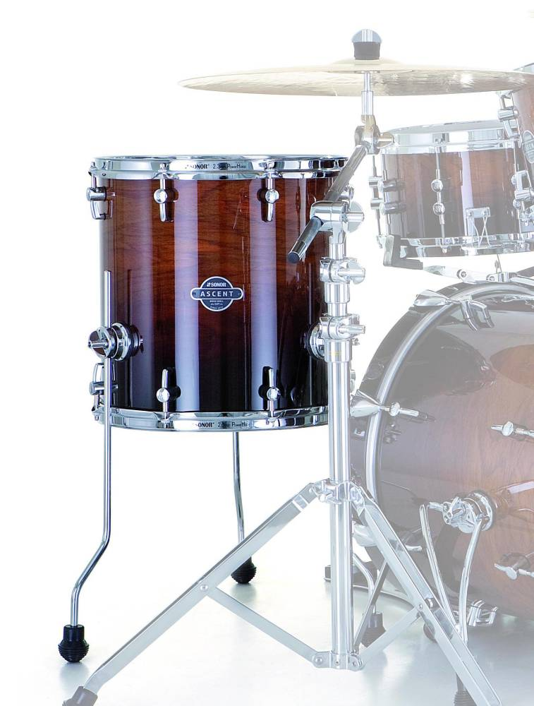 sonor ascent floor tom 14 x 14 inch burnt fade long