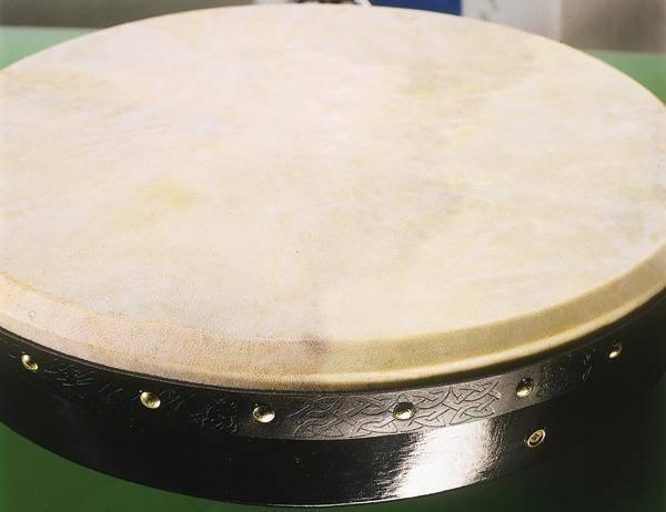 waltons irish music pro05 deluxe 18 inch bodhran ebony long mcquade musical instruments. Black Bedroom Furniture Sets. Home Design Ideas