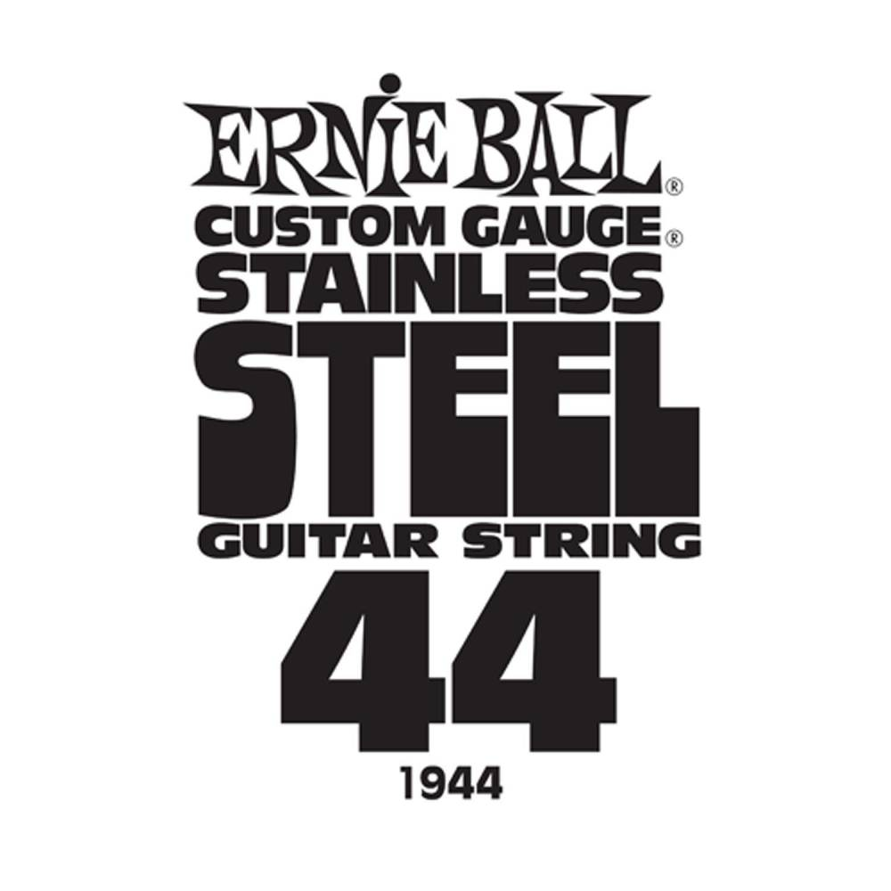 ernie ball stainless steel custom gauge single guitar string 044 long mcquade musical. Black Bedroom Furniture Sets. Home Design Ideas