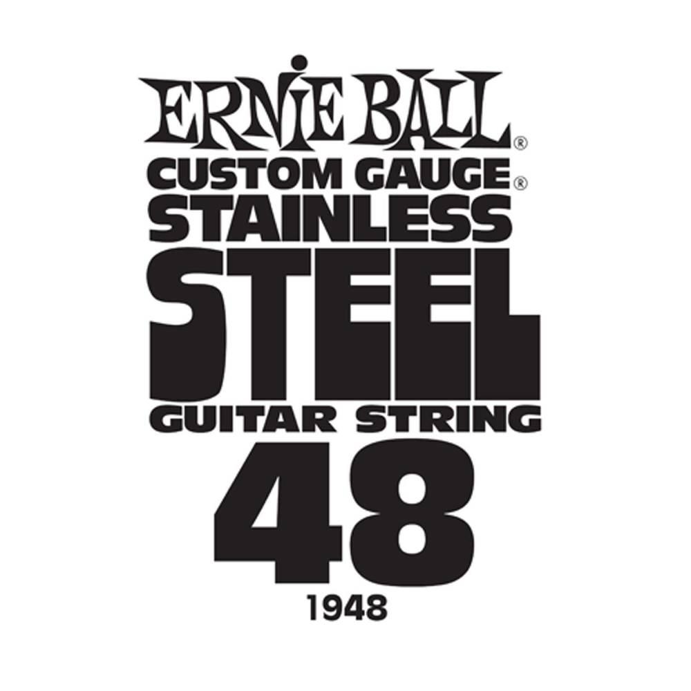 ernie ball stainless steel custom gauge single guitar string 048 long mcquade musical. Black Bedroom Furniture Sets. Home Design Ideas