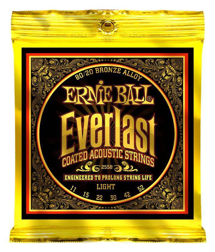 ernie ball everlast coated 80 20 guitar strings light long mcquade musical instruments. Black Bedroom Furniture Sets. Home Design Ideas