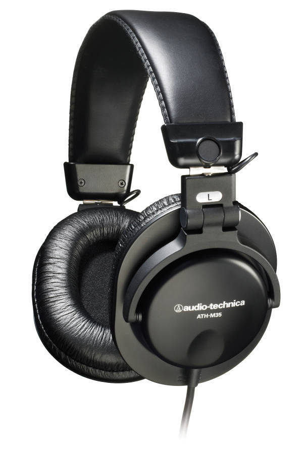 audio technica ath m35 closed back dynamic monitor headphones long mcquade musical instruments. Black Bedroom Furniture Sets. Home Design Ideas