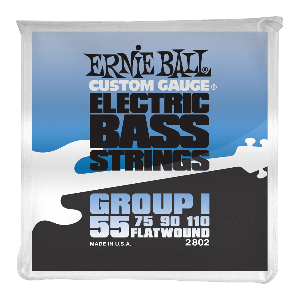 ernie ball flatwound bass strings group i 055 110 long mcquade musical instruments. Black Bedroom Furniture Sets. Home Design Ideas