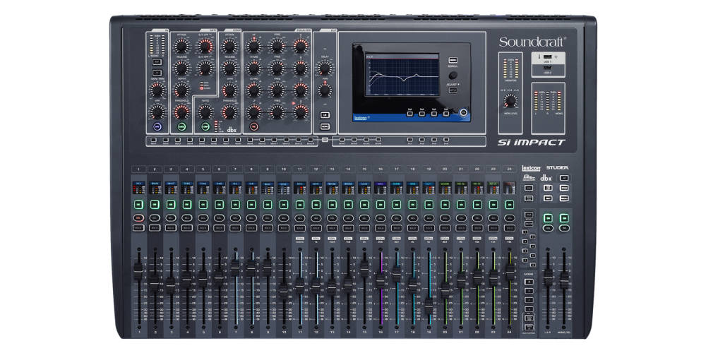 soundcraft 40 input digital mixing console with 32 in out usb interface long mcquade musical. Black Bedroom Furniture Sets. Home Design Ideas