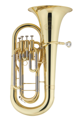 4-Valve Bb Euphonium w/ Lacquer Finish and Case