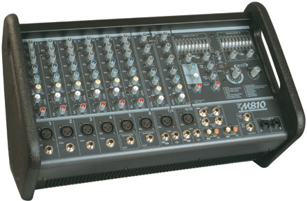 Micromix  800-Watt Stereo 10 Channel Powered Mixer