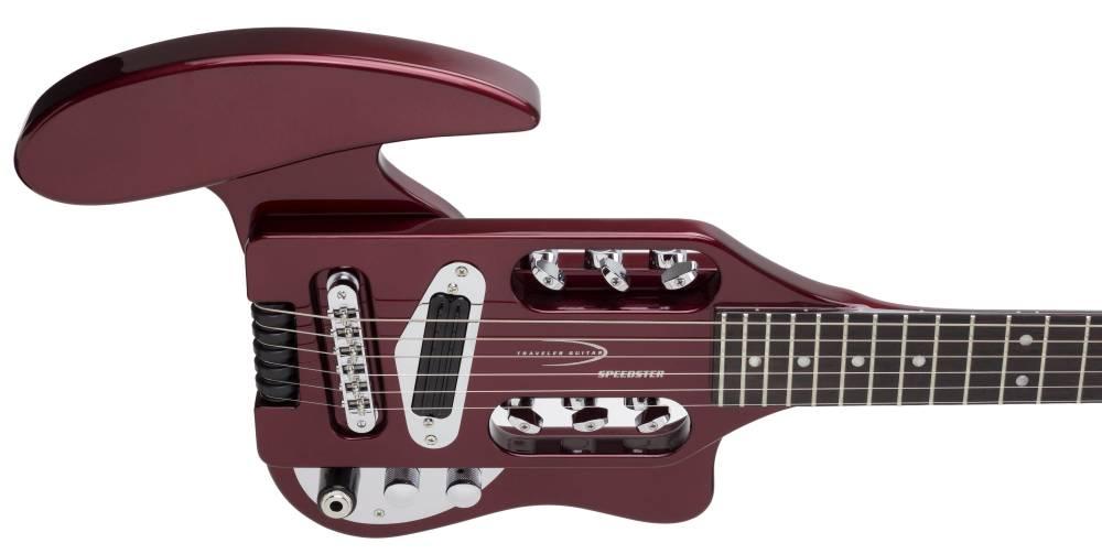 traveler guitar speedster electric travel guitar red w gig bag long mcquade musical. Black Bedroom Furniture Sets. Home Design Ideas