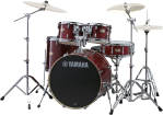 Yamaha - Stage Custom Birch 6-Pc Drum Set (10,12,14,16, Sn, 22) w/Hardware - Cranberry Red