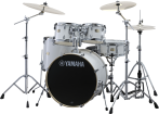 Yamaha - Stage Custom Birch 6-Pc Drum Set (10,12,14,16, Sn, 22) w/Hardware - Pure White