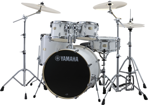 Stage Custom Birch 6-Pc Drum Set (10,12,14,16, Sn, 22) w/Hardware - Pure White