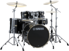 Yamaha - Stage Custom Birch 6-Pc Drum Set (10,12,14,16, Sn, 22) w/Hardware - Raven Black