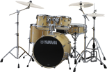 Yamaha - Stage Custom Birch 6-Pc Drum Set (10,12,14,16, Sn, 22) w/Hardware - Natural