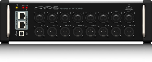 SD8 I/O Stage Box with 8 Preamps