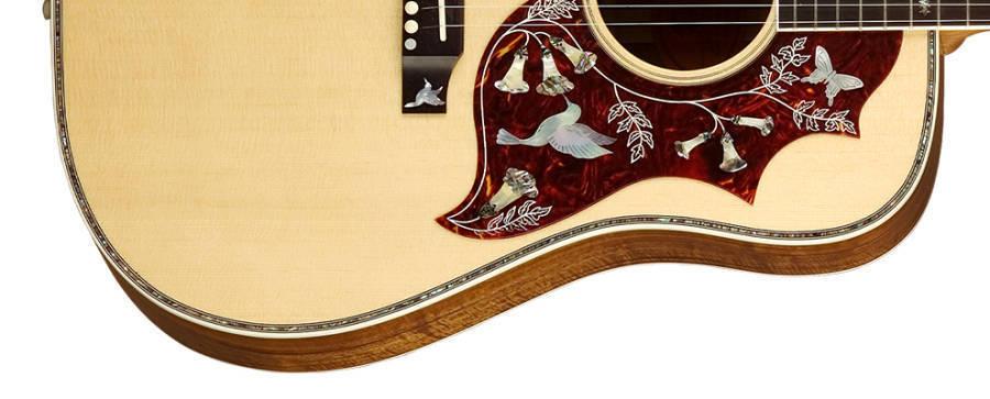 gibson hummingbird custom koa acoustic guitar natural finish long mcquade musical instruments. Black Bedroom Furniture Sets. Home Design Ideas
