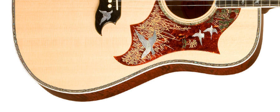 gibson doves in flight custom acoustic guitar long mcquade musical instruments. Black Bedroom Furniture Sets. Home Design Ideas