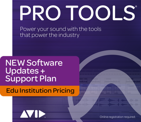 Pro Tools 1-Year Software Updates & Support Plan - Edu Institution Pricing