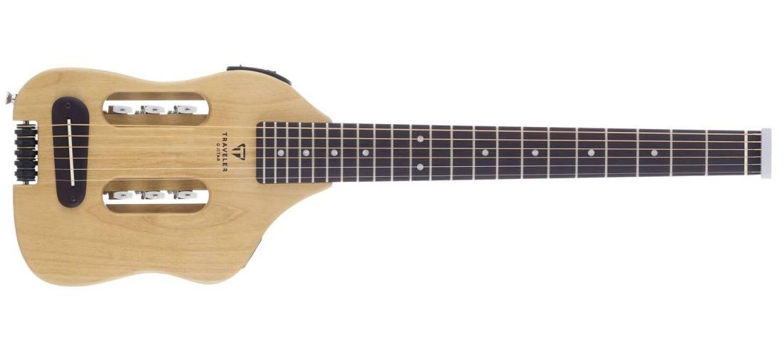 traveler guitar original escape acoustic electric travel guitar w gig bag long mcquade. Black Bedroom Furniture Sets. Home Design Ideas