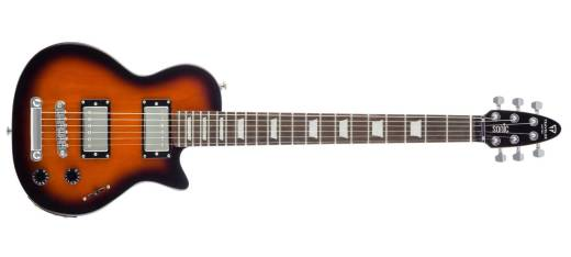 Sonic L-22 Travel Electric Guitar w/ Gig Bag - Sunburst