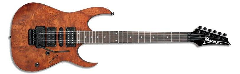 Ibanez RG HSH Burl Top Electric Guitar - Charcoal Brown Flat ...