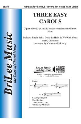 Three Easy Carols - Delanoy - 2pt or 3pt Mixed