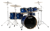 Pacific Drums - CM7 Concept Series Maple 7-Piece Drum Shell Pack - Blue Sparkle