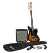 Squier - Affinity Series Jaguar Bass Special SS Pack with Fender Rumble 15W Amp - Sunburst