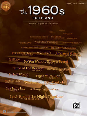 Greatest Hits: The 1960s for Piano - Piano/Vocal/Guitar - Book