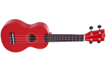 Mahalo - Rainbow Series Soprano Ukulele with Bag - Red