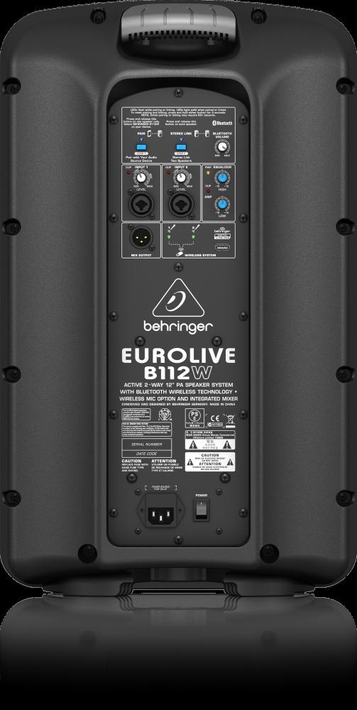 behringer eurolive b112w active 2 way 12 39 39 wireless pa speaker long mcquade musical instruments. Black Bedroom Furniture Sets. Home Design Ideas