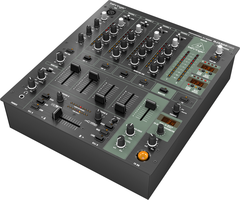 DJX900USB Professional 5 Channel DJ Mixer