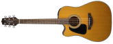 Takamine - Dreadnought Acoustic/Electric Left Handed Guitar - Natural Gloss