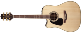 Takamine - Dreadnought Solid Top Acoustic/Electric Left Handed Guitar - Natural Gloss