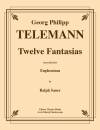 Cherry Classics - Twelve Fantasias for Euphonium - Telemann/Sauer - Book