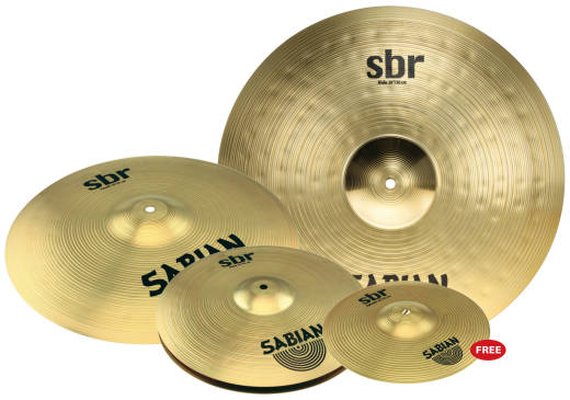 Sabian SBR Pack w/Free 10'' Ride