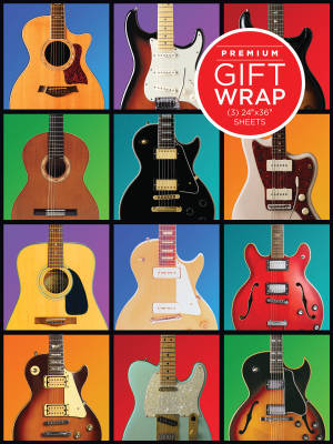 Hal Leonard Wrapping Paper: Guitar Army Theme - 3 Sheets (24''x36'')