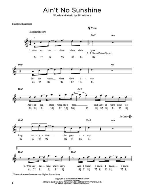 Harmonica u00bb Harmonica Chords C Songs - Music Sheets, Tablature, Chords and Lyrics