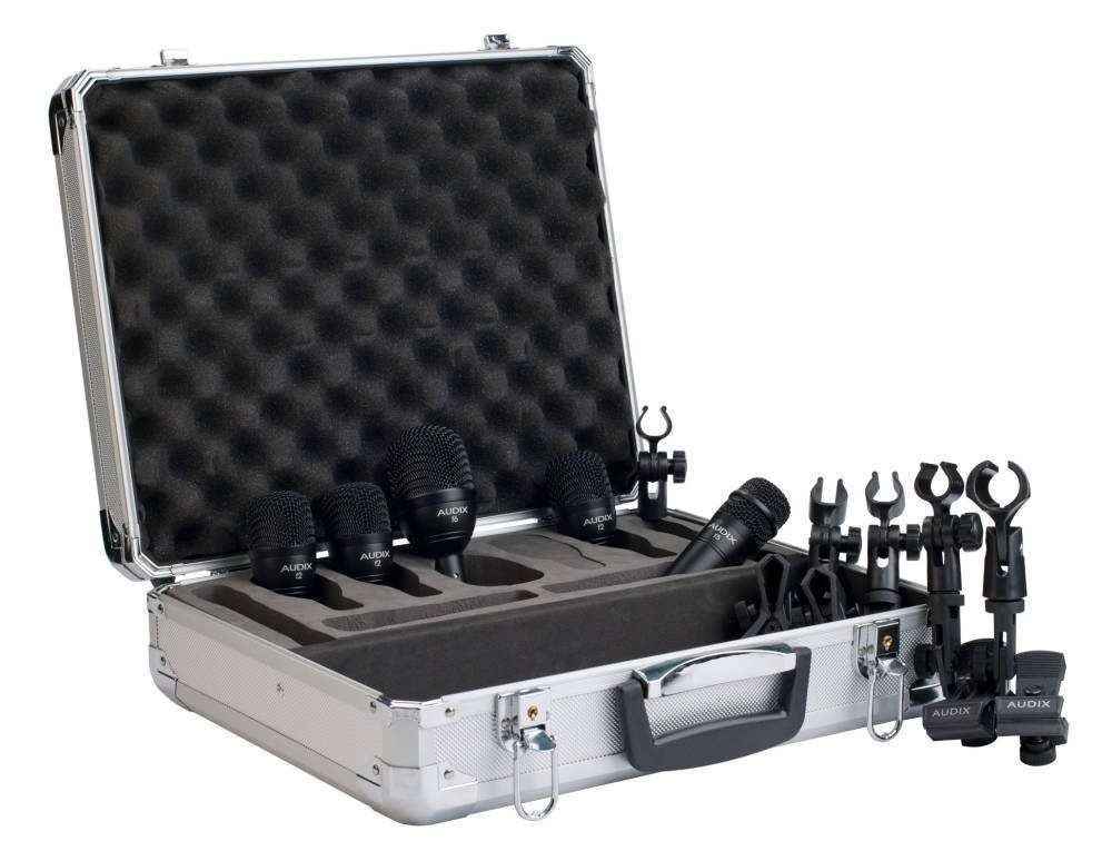 audix 5 piece fusion drum mic pack long mcquade musical instruments. Black Bedroom Furniture Sets. Home Design Ideas