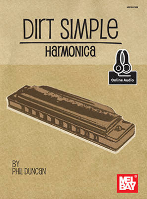 Dirt Simple Harmonica - Duncan - Diatonic Harmonica - Book/Audio Online