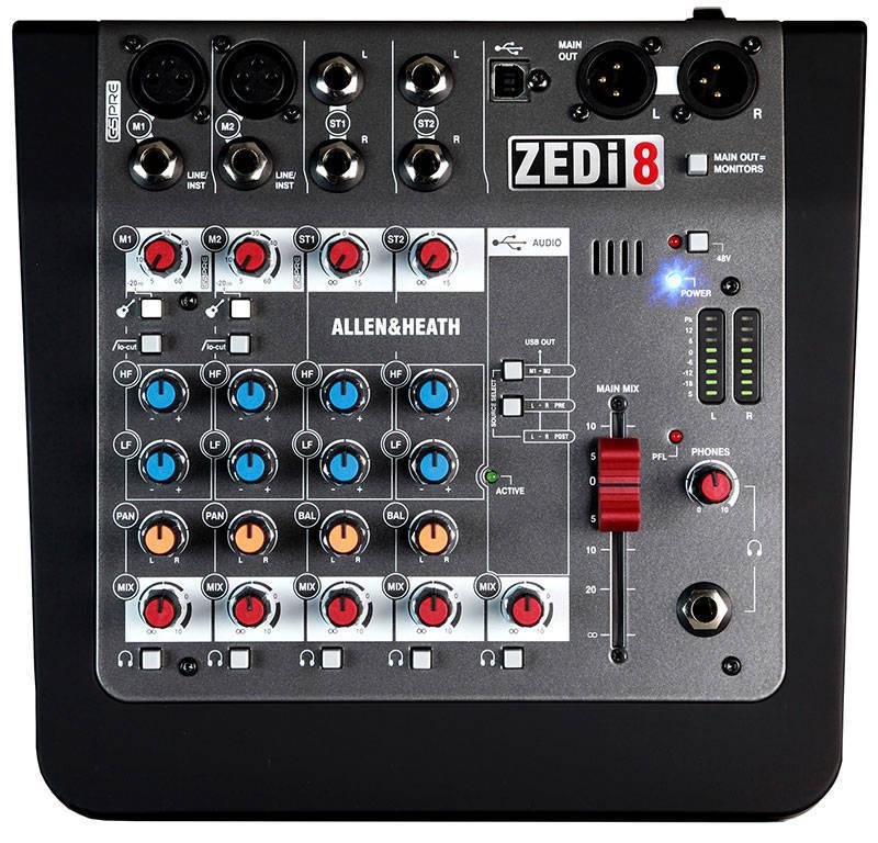 allen heath zedi 8 6 channel hybrid mixer usb interface long mcquade musical instruments. Black Bedroom Furniture Sets. Home Design Ideas