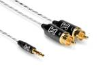 Hosa - Drive Stereo 3.5mm TRS to Dual RCA - 1.5ft