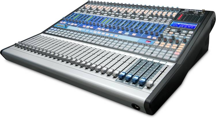 presonus 24 channel digital mixer with 24 mic pre 39 s long mcquade musical instruments. Black Bedroom Furniture Sets. Home Design Ideas