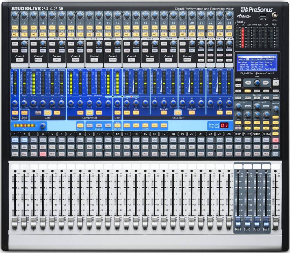 Presonus 24 Channel Digital Mixer With Mic Pres Long Mcquade Low Cost