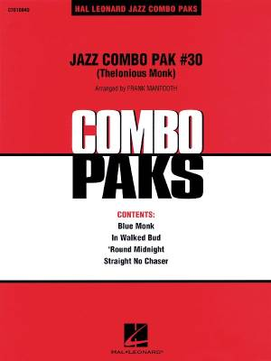 Jazz Combo Pak #30 (Thelonious Monk) - Mantooth - Jazz Combo/Audio Online - Gr. 3
