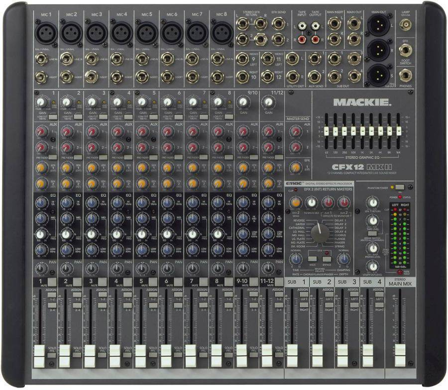 mackie cfx12 mkii 12 channel mixer with emac effects long mcquade musical instruments. Black Bedroom Furniture Sets. Home Design Ideas