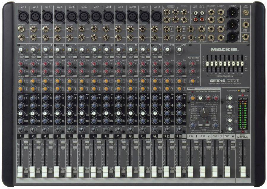 Mackie Cfx16 Mkii 16 Channel Mixer With Emac Effects