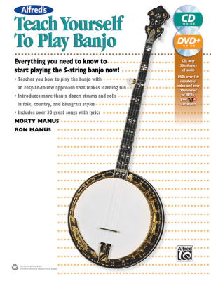 Alfred's Teach Yourself to Play Banjo - Manus/Manus - Book/CD/DVD