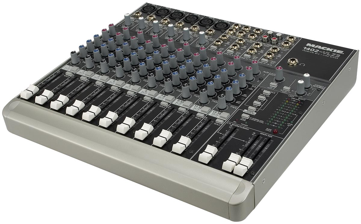 mackie 1402-vlz3 - 14 channel compact mixer - long & mcquade