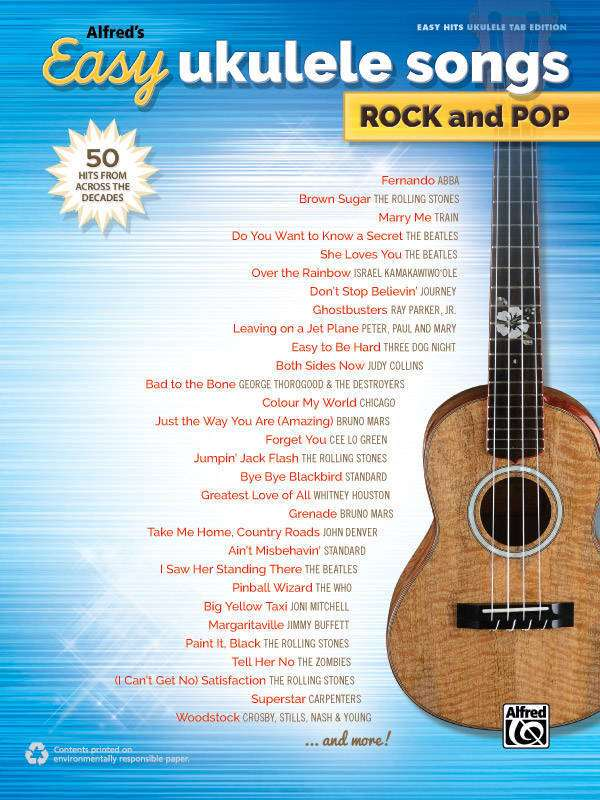 Alfred Publishing Alfreds Easy Ukulele Songs Rock And Pop Book